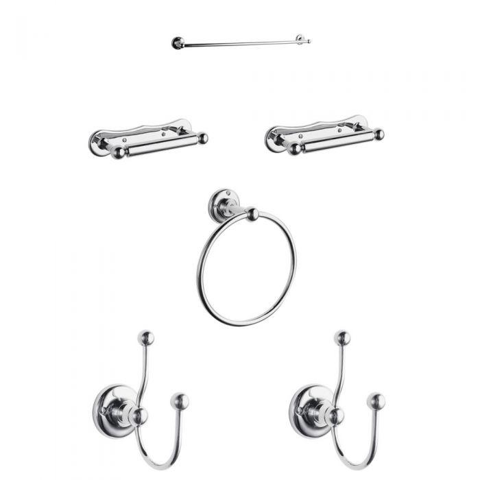 Set di accessori per Bagno con 6 Articoli