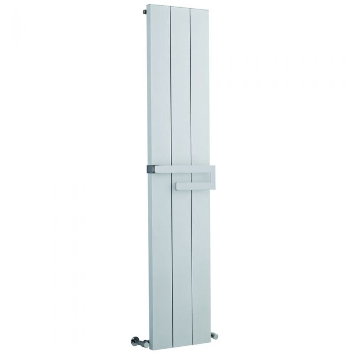 Radiatore di Design Verticale con Porta Asciugamani a Barra - Bianco - 1800mm x 370mm x 105mm - 1265 Watt - Ceylon