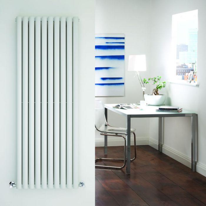 Radiatore di Design Verticale Doppio - Bianco - 1600mm x 590mm x 78mm - 2047 Watt - Revive