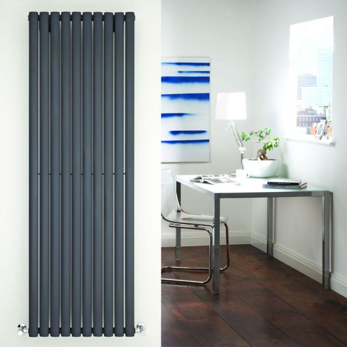 Radiatore di Design Verticale - Antracite - 1780mm x 590mm x 56mm - 1487 Watt - Revive
