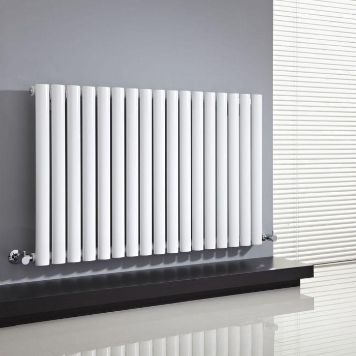 Radiatore di Design Orizzontale  - Bianco - 635mm x 1000mm x 55mm - 1015 Watt - Revive