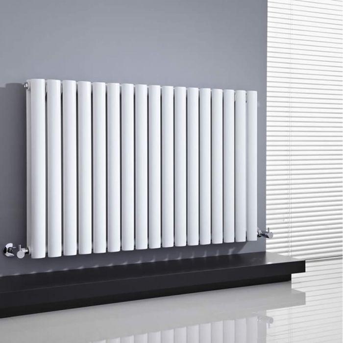 Radiatore di Design Orizzontale Doppio - Bianco - 635mm x 1000mm x 78mm - 1584 Watt - Revive