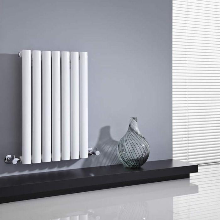 Radiatore di Design Orizzontale  - Bianco - 635mm x 415mm x 55mm - 418 Watt - Revive