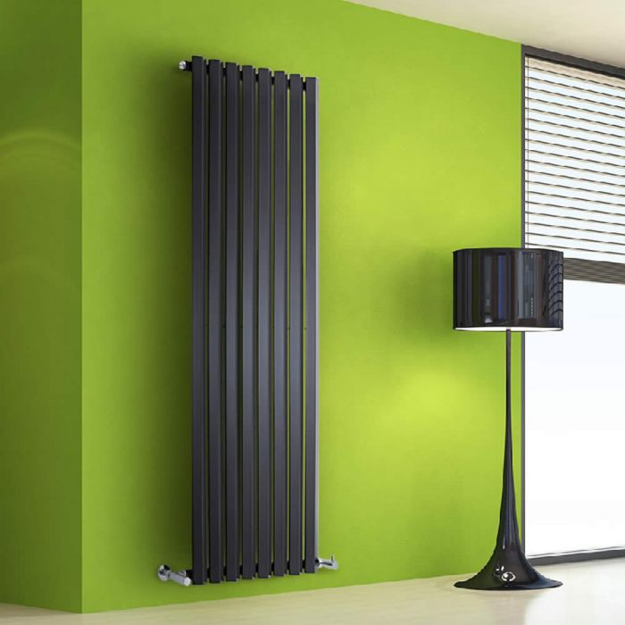 Radiatore di Design Verticale - Nero - 1600mm x 560mm x 60mm - 1261 Watt - Rombo