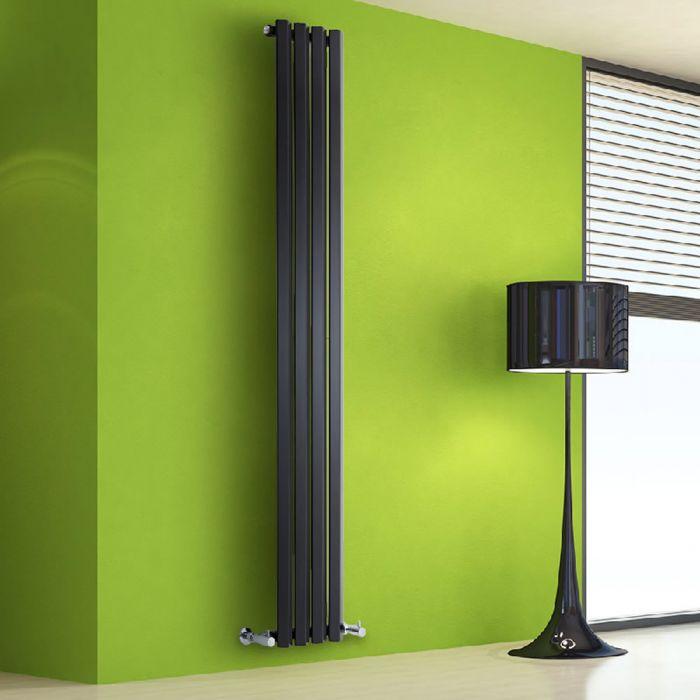 Radiatore di Design Verticale - Nero - 1780mm x 280mm x 60mm - 700 Watt - Rombo