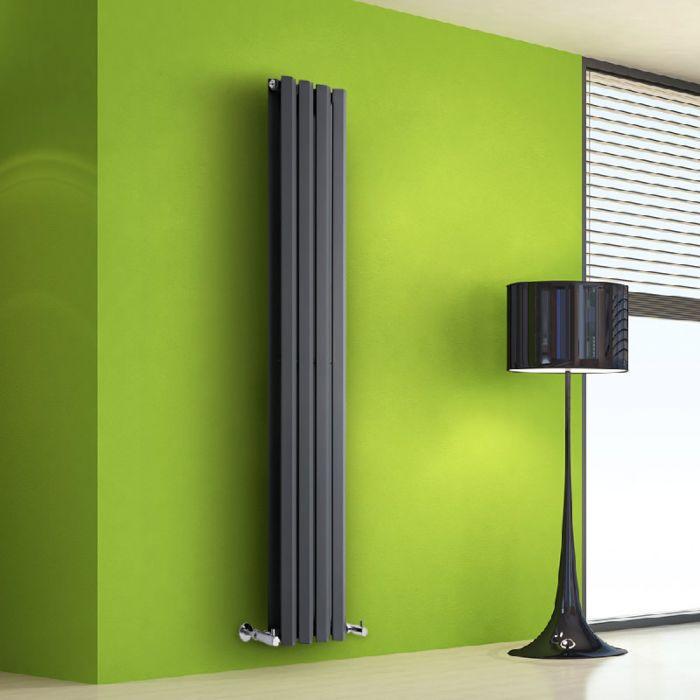 Radiatore di Design Verticale Doppio - Antracite - 1600mm x 280mm x 86mm - 983 Watt - Rombo