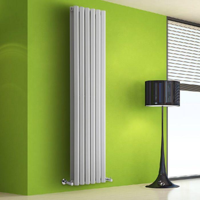 Radiatore di Design Verticale Doppio - Bianco - 1780mm x 420mm x 86mm - 1618 Watt - Rombo