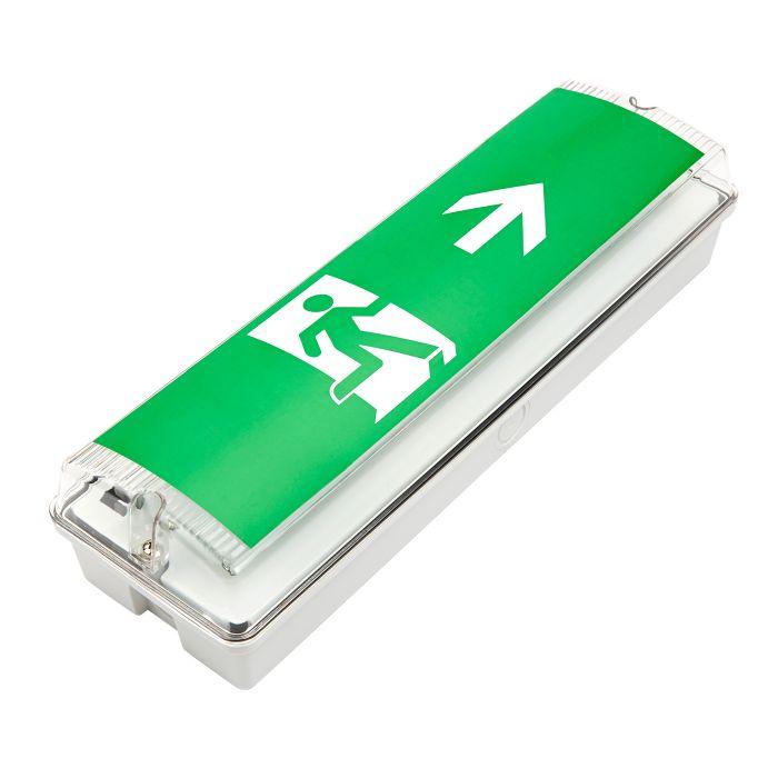 Faretto di Emergenza di Uscita con Luci LED - Destra