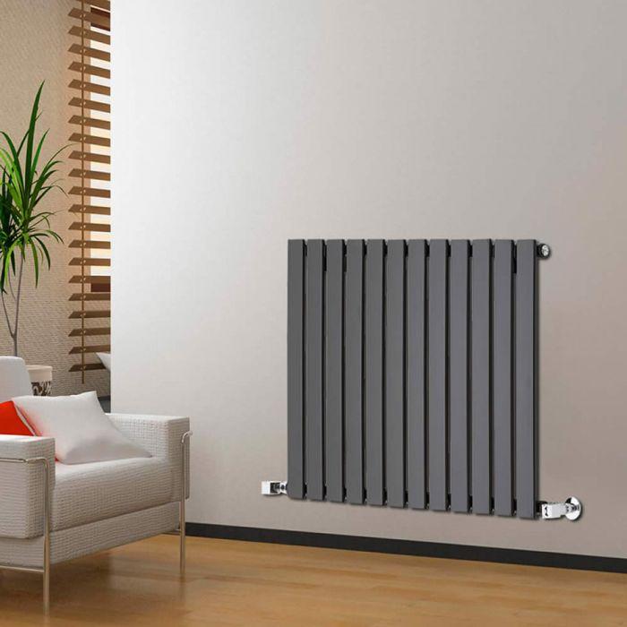Radiatore di Design Orizzontale - Nero - 635mm x 840mm x 46mm - 751 Watt - Delta