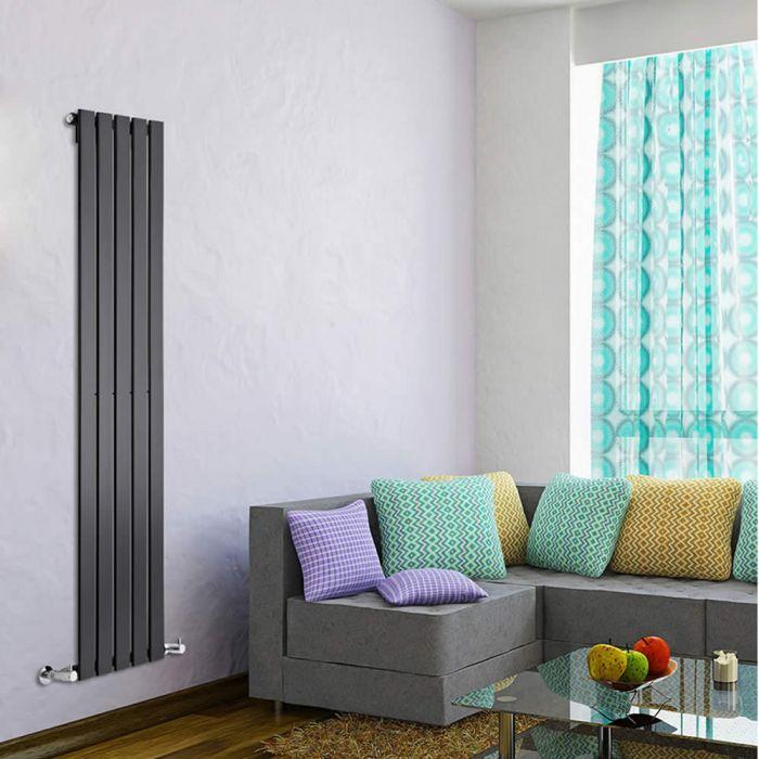 Radiatore di Design Verticale  - Nero - 1600mm x 350mm x 47mm - 733 Watt - Delta