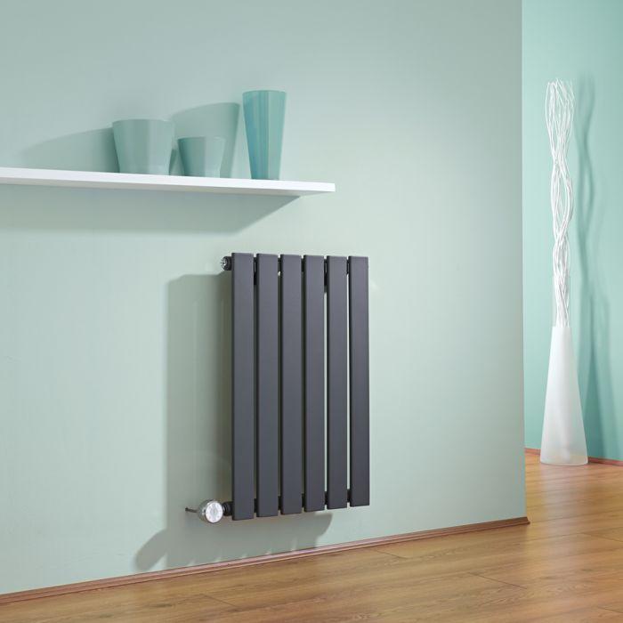 Radiatore di Design Elettrico Orizzontale - Antracite - 635mm x 420mm x 46mm - Delta