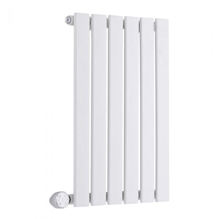 Radiatore di Design Elettrico Orizzontale - Bianco - 635mm x 420mm x 54mm - Sloane
