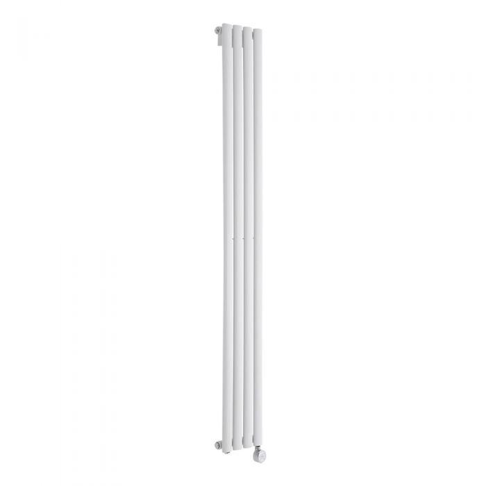 Radiatore di Design Elettrico Verticale - Bianco - 1780mm x 236mm x 56mm - Revive