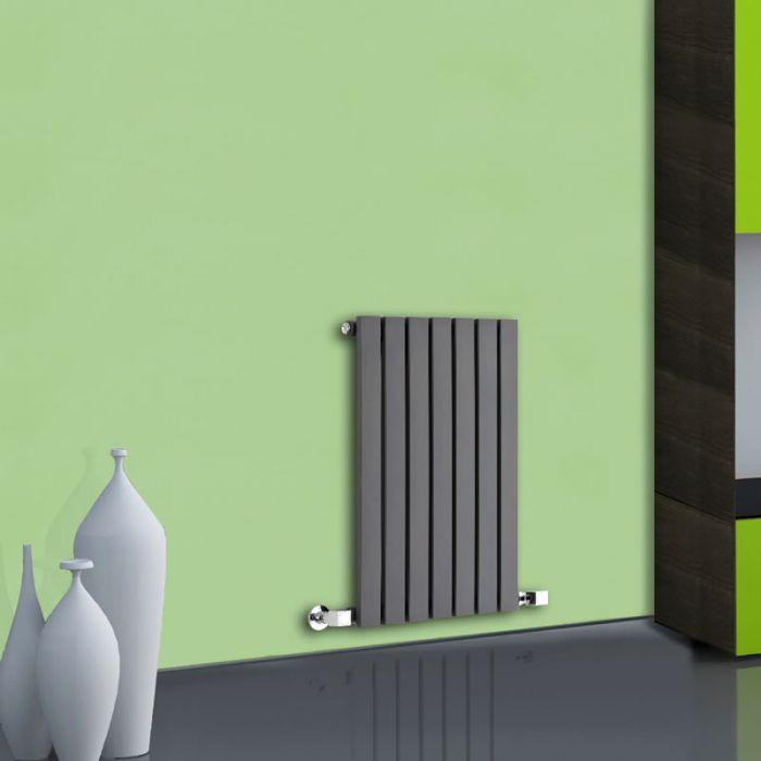 Radiatore di Design Orizzontale  - Antracite - 635mm x 420mm x 54mm - 421 Watt - Sloane
