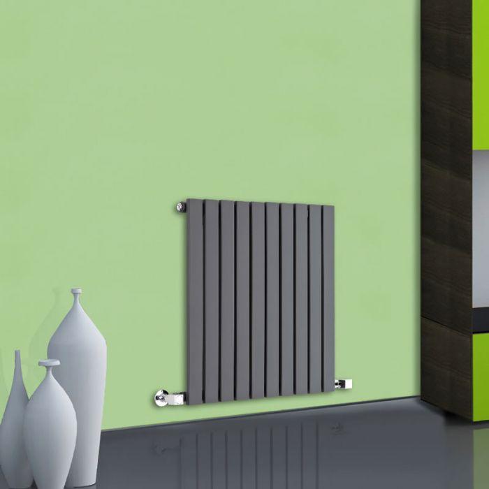 Radiatore di Design Orizzontale - Antracite - 635mm x 600mm x 54mm - 601 Watt - Sloane