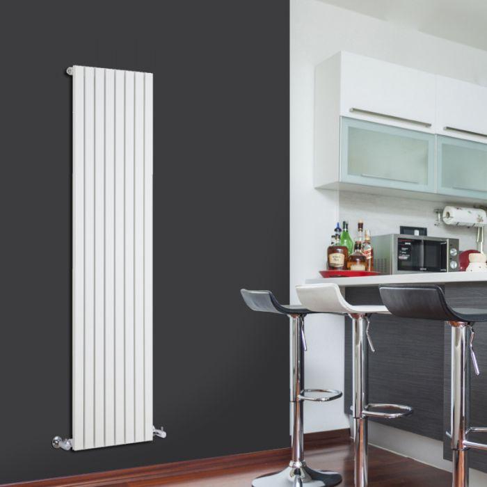 Radiatore di Design Verticale - Bianco - 1600mm x 472mm x 53mm - 1149 Watt - Sloane