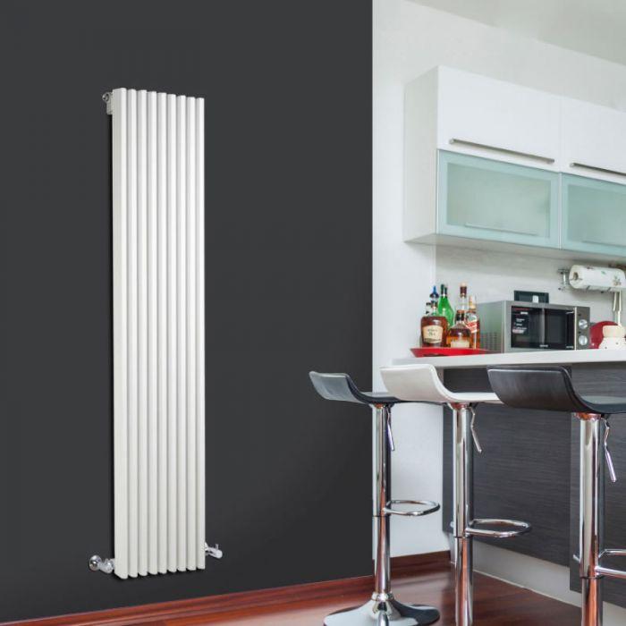 Radiatore di Design Verticale  - Bianco - 1600mm x 342mm x 84mm - 1053 Watt - Fin