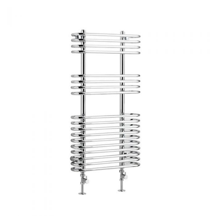 Radiatore Scaldasalviette Curvo - Cromato - 900mm x 500mm x 130mm - 341 Watt - Select