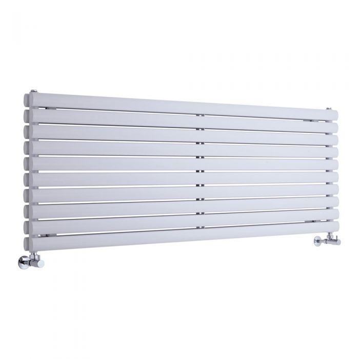Radiatore di Design Orizzontale Doppio - Bianco - 590mm x 1600mm x 56mm - 1881 Watt - Revive