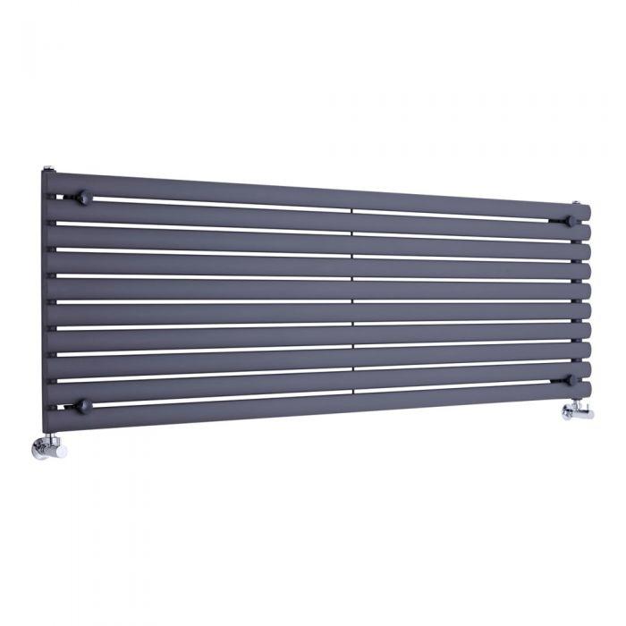 Radiatore di Design Orizzontale - Antracite - 590mm x 1780mm x 55mm - 1476 Watt - Revive