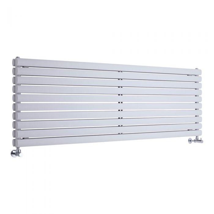 Radiatore di Design Orizzontale Doppio - Bianco - 590mm x 1780mm x 78mm - 2066 Watt - Revive