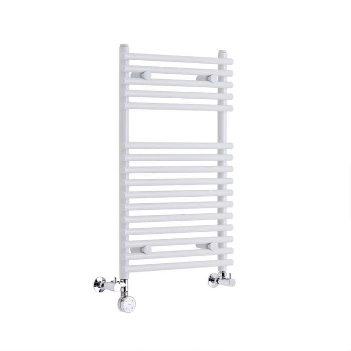 Radiatore Scaldasalviette Misto Piatto - Bianco - 750mm x 450mm x 70mm - 274 Watt - Ischia