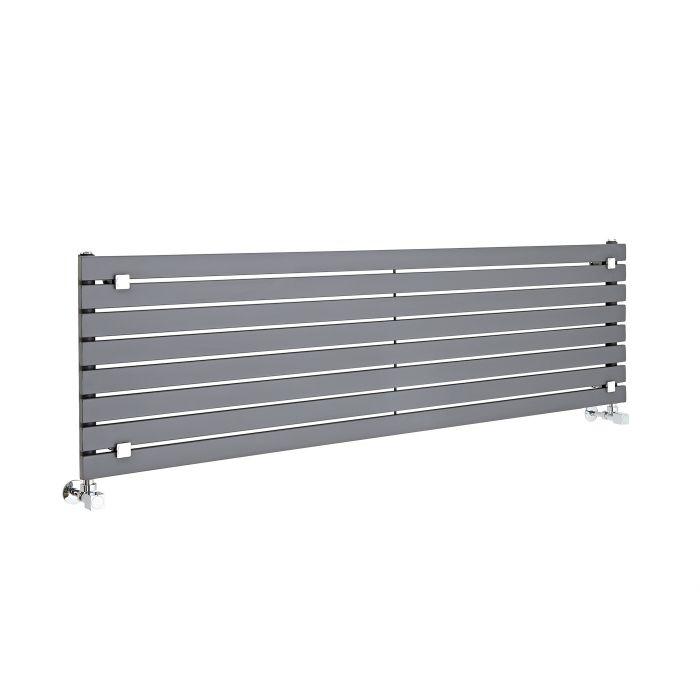 Radiatore di Design Orizzontale  - Antracite - 472mm x 1600mm x 54mm - 1043 Watt - Sloane