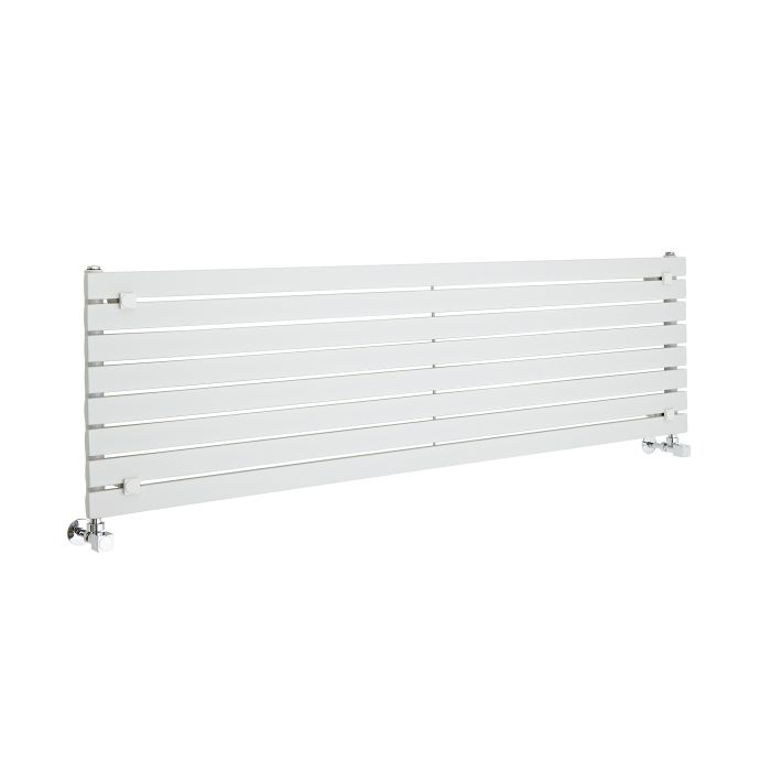 Radiatore di Design Orizzontale  - Bianco - 472mm x 1600mm x 54mm - 1043 Watt - Sloane
