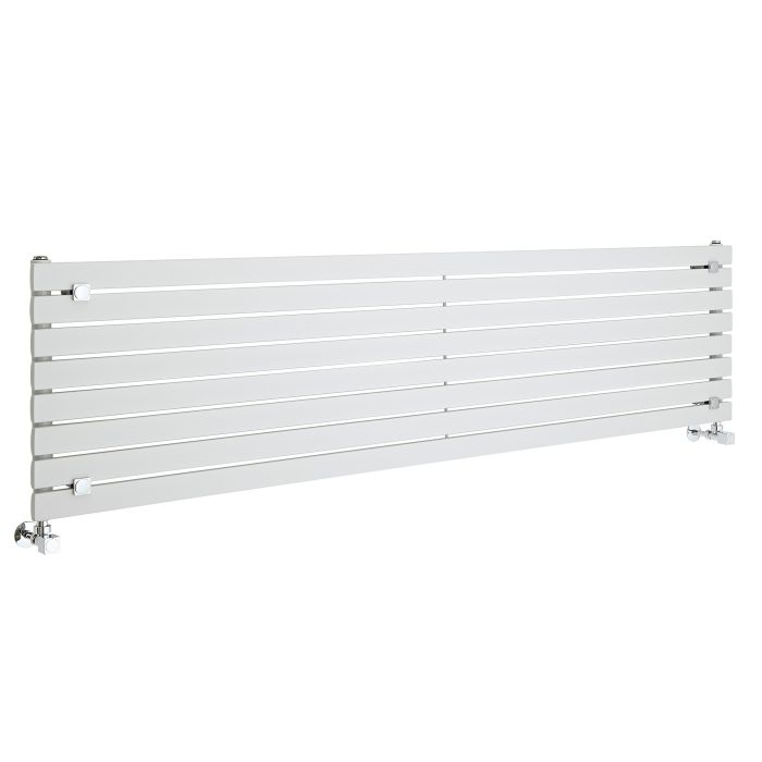 Radiatore di Design Orizzontale  - Bianco - 472mm x 1780mm x 54mm - 1145 Watt - Sloane
