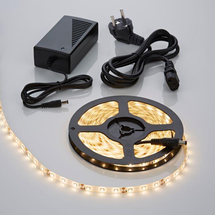 Strisce LED 5 metri Bianco Caldo con Trasformatore