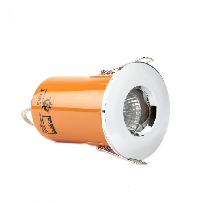 Faretto LED Downlight GU10 da Incasso con Struttura Cromata