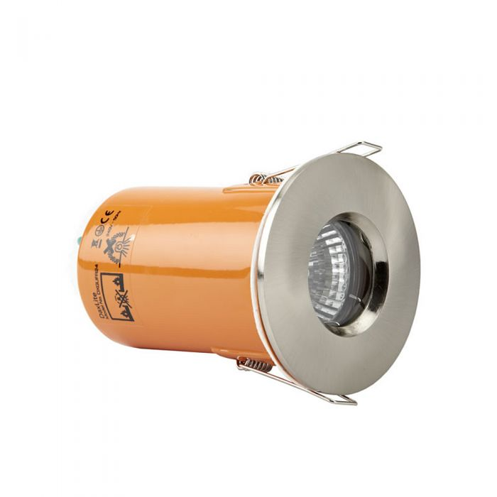 Faretto LED Downlight GU10 da Incasso con Struttura di Colore Argento Satinato