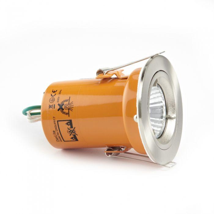 Faretto LED Downlight GU10 240V con Struttura di Colore Argento Satinato