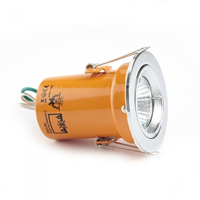 Faretto LED Downlight GU10 240V con Struttura di Colore Cromato