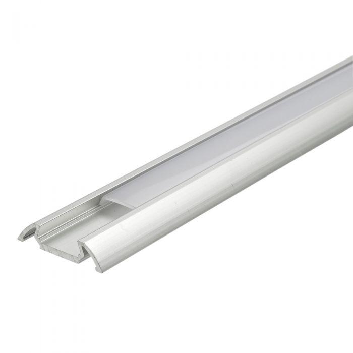 Copertura Alluminio Colore Bianco per Illuminazione LED 100cm