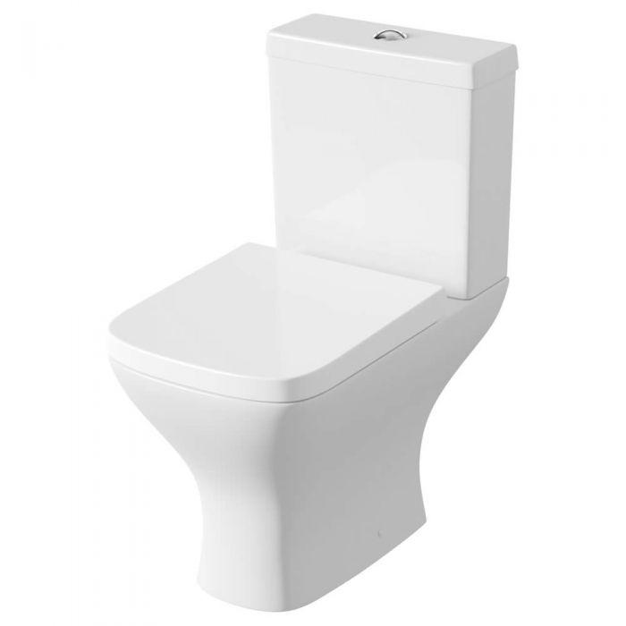 Sanitario Bagno WC Completo con Cassetta e Coprivaso