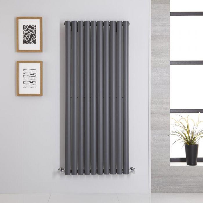 Radiatore di Design Verticale - Antracite - 1400mm x 590mm x 56mm - 1143 Watt - Revive