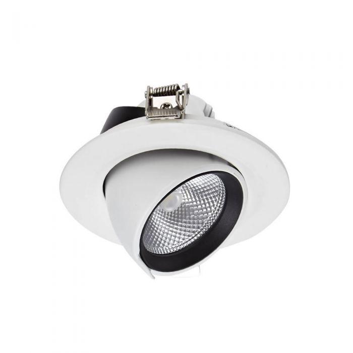 Faretto LED Downlight 10W Bianco da Incasso Orientabile
