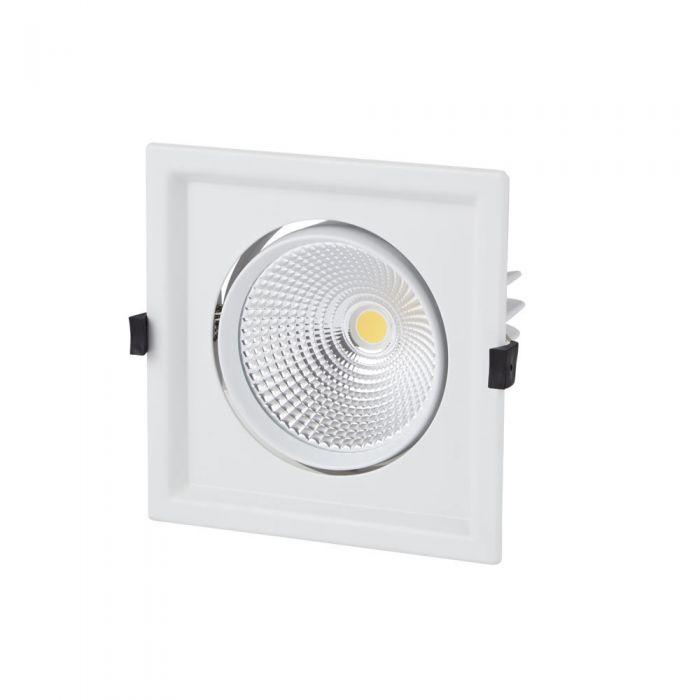 Faretto LED 30W Bianco da Incasso Orientabile