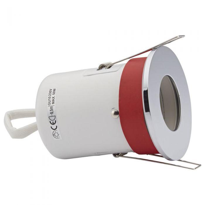 Faretto LED da Incasso GU10 Protezione Ignifuga con Porta Rotondo Faretto Disponibile in 3 Colori