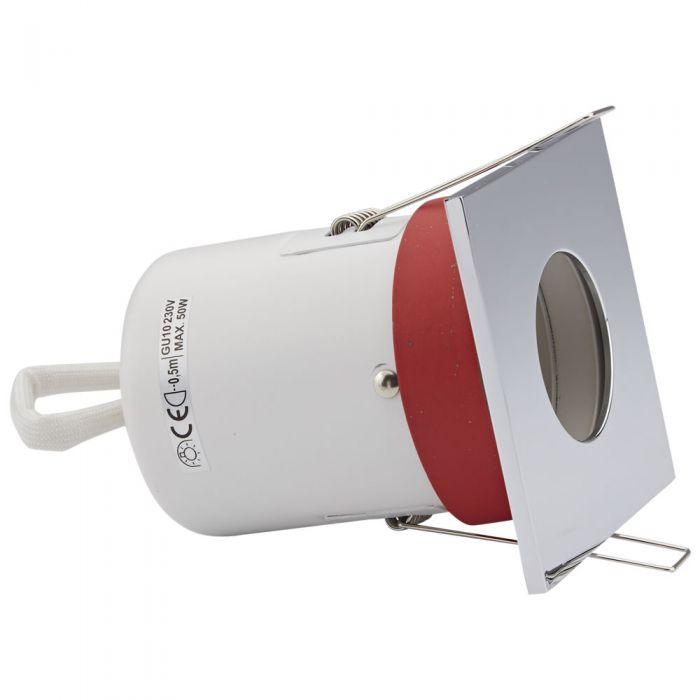 Faretto LED da Incasso GU10 Protezione Ignifuga con Porta Quadrato Faretto Disponibile in 3 Colori