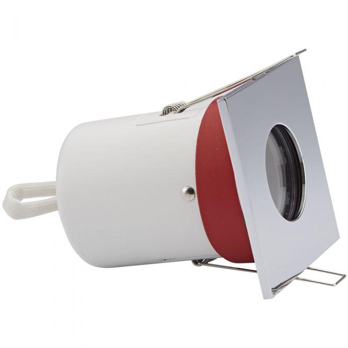 Faretto LED da Incasso GU10 IP65 Protezione Ignifuga con Porta Quadrato Faretto Disponibile in 3 Colori