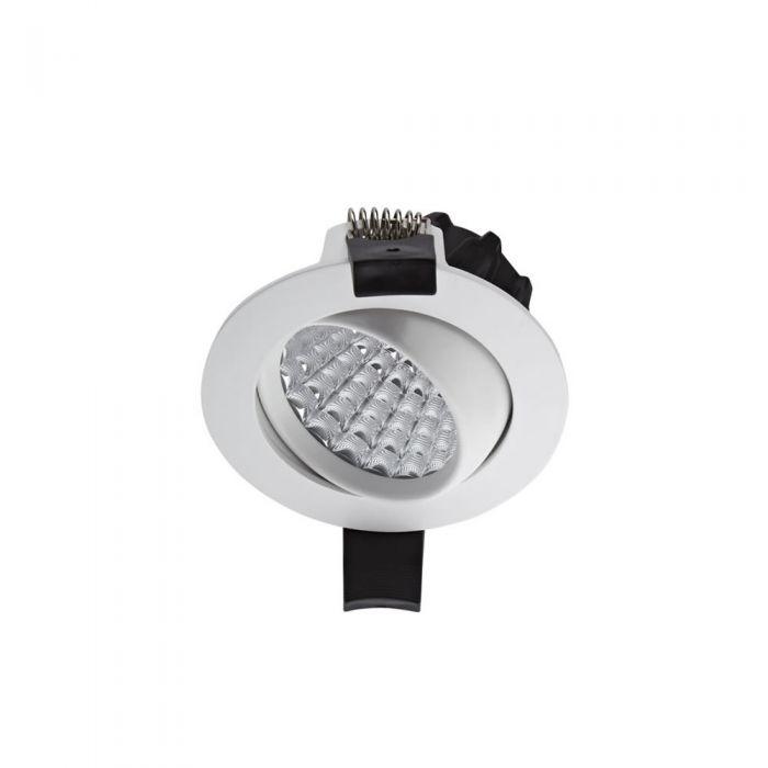 Faretto LED Downlight 7W Bianco da Incasso Orientabile Dimmerabile