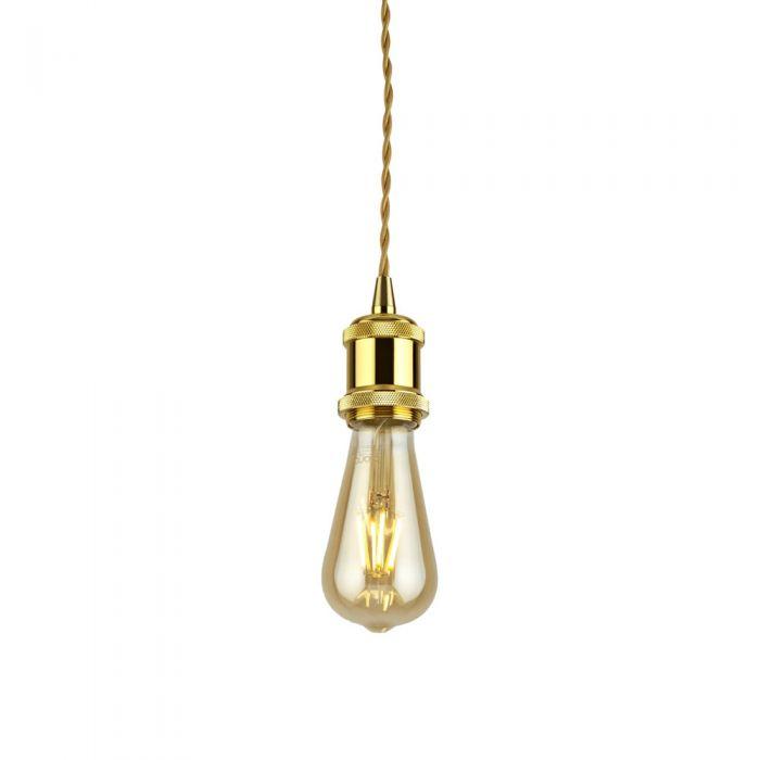 Pendel per Lampadario a Sospensione Stile Vintage Realizzato in Alluminio con Finitura Colore Ottone- Norrebro