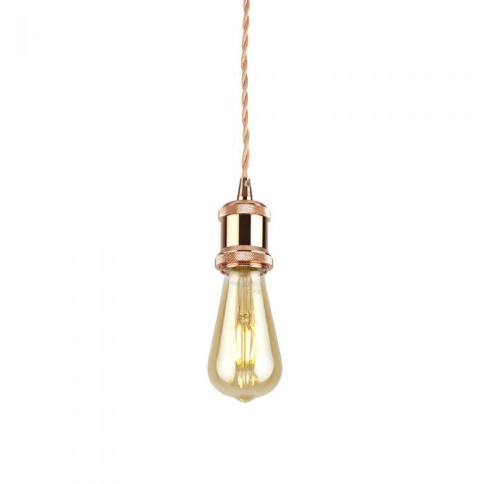Pendel per Lampadario a Sospensione Stile Vintage Realizzato in Alluminio con Finitura Colore Oro Rosa- Norrebro