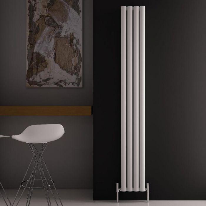 Radiatore di Design Verticale Doppio - Bianco - 1800mm x 230mm x 76mm - 1002 Watt - Revive Air