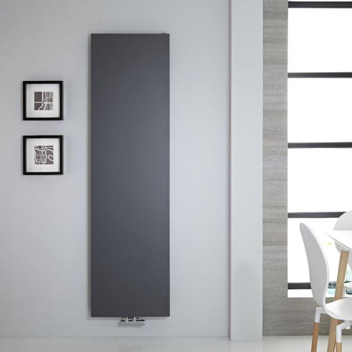 Radiatore di Design Verticale - Piastra Radiante - Attacchi Centrali - Acciaio - Antracite - 1800mm x 500mm - 1123 Watt - Rubi