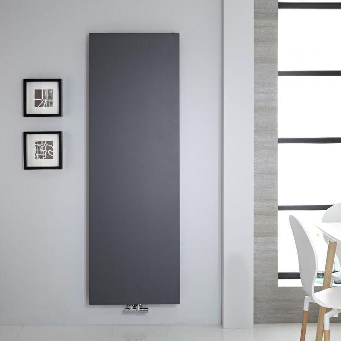 Radiatore di Design Verticale - Piastra Radiante - Attacchi Centrali - Acciaio - Antracite - 1800mm x 600mm - 1404 Watt - Rubi