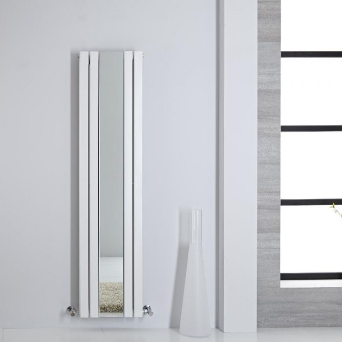 Radiatore di Design - Verticale Con Specchio - Bianco - 1600mm x 385mm - 1212 Watt - Sloane