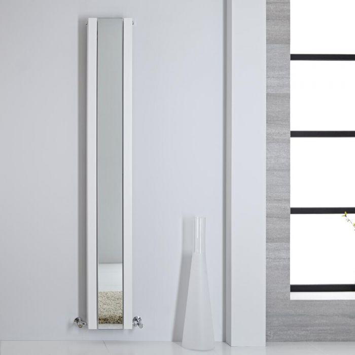 Radiatore di Design - Verticale Con Specchio - Bianco - 1800mm x 265mm - 901 Watt - Sloane
